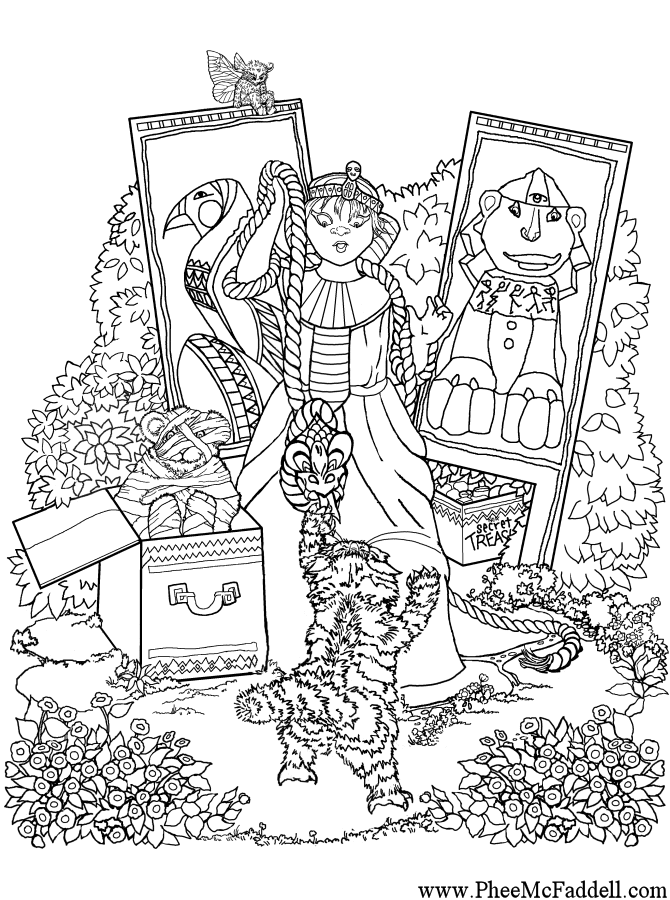 Egyptian Christmas Coloring Pages
