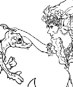 Mermaid & Dragon Coloring Page