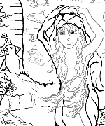 Selkie Coloring Page