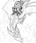 Dragon Rider Coloring Page