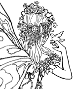 Castle Fairy Coloring Page