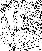 Catching the Moon Coloring Page