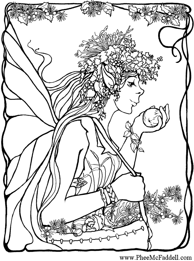 flower coloring pages for adults fairy kissing flower