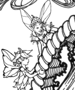 Thanksgiving Fairy Coloring Page