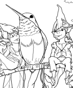 Hummer Elf Friends Coloring Page