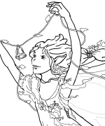 Jubilant Fairy Coloring Page