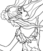 Fall Fairy Coloring Page