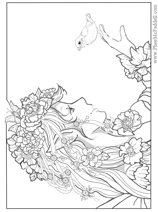 april fairy coloring page - Free Fairy Coloring Pages