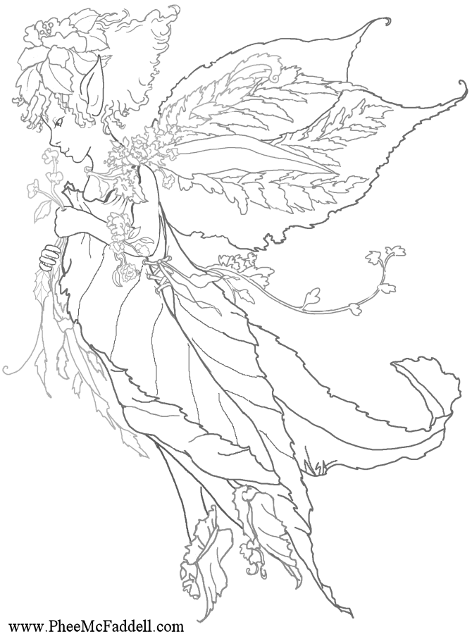 Fairy On Daisy Coloring Page