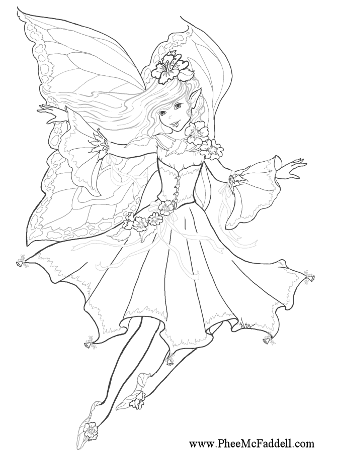 melody fairy coloring page