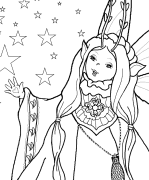 A Fairy Blessing Coloring Page