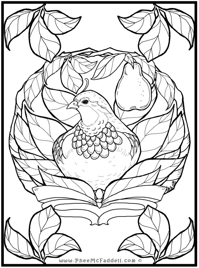 pear drawing coloring pages