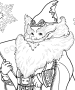 Jolly Old Elf Coloring Page