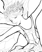 Morning Glory Fairy Coloring Page