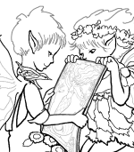 Teasel Twila Fairy Coloring Page