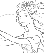 Emmah Fairy Coloring Page