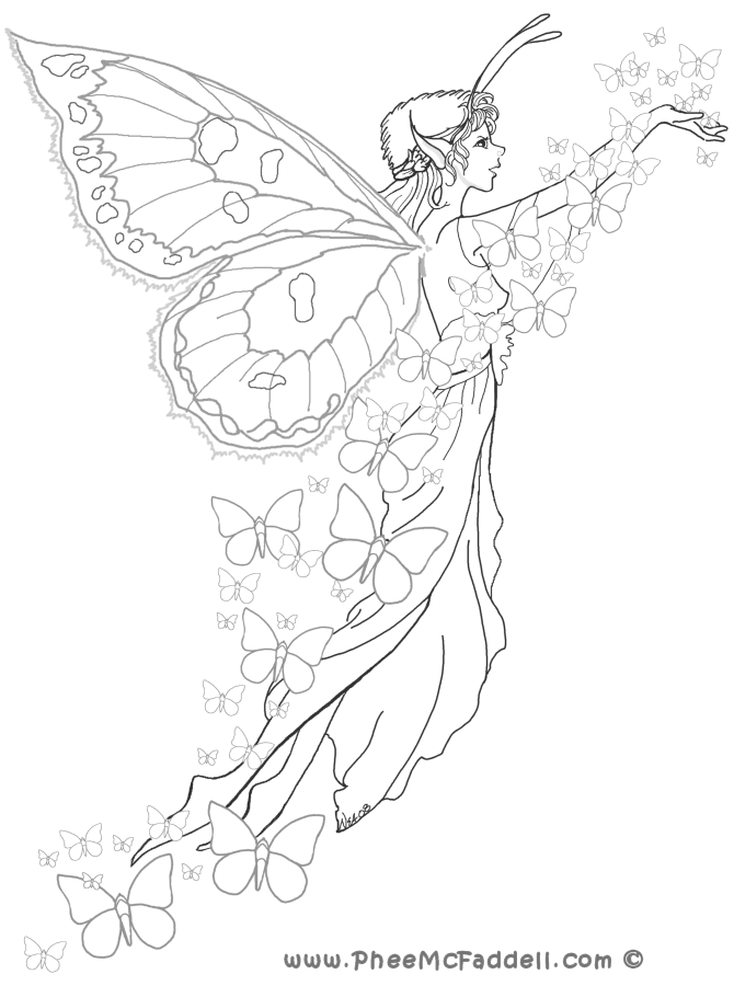 fairy coloring pages site - photo#22
