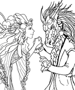 Fairyland Gathering Coloring Page
