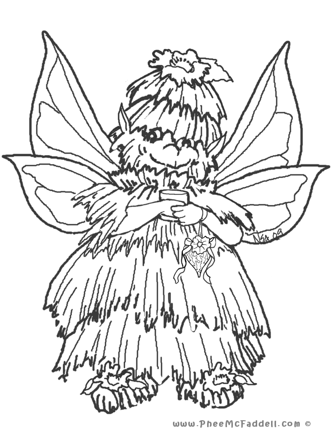 Little Fairy Coloring Page