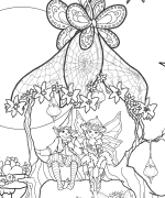 Refreshment Arbor Coloring Page