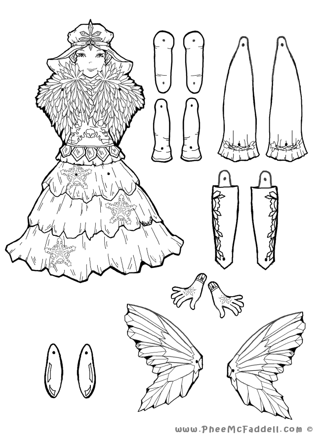 Puppet fairy tale coloring pages for Puppet coloring pages