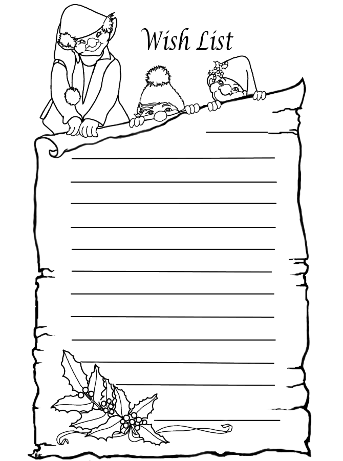Christmas Wish List Coloring Pages Search Results Wish List Coloring Page