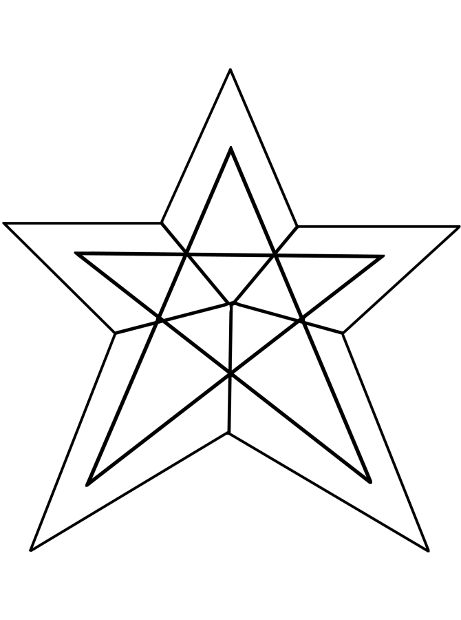 Star to color for Christmas star coloring page