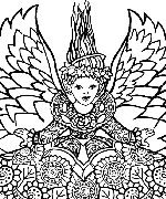 Angel Snow Coloring Page