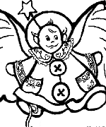 Baby Angel Coloring Page