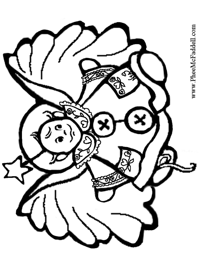 baby boy angel coloring pages - photo #41