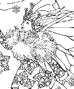 Snowflake Fairy Coloring Page