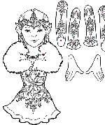 Snowflake Fairy Puppet Coloring Page