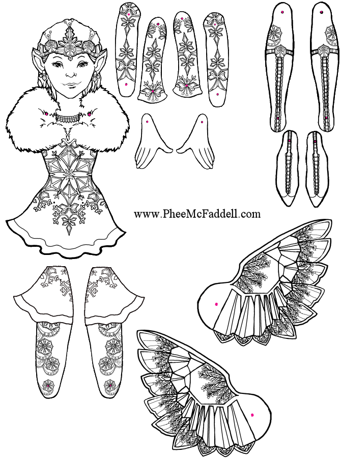 Fairy To Color Www Pheemcfaddell Com Pictures To Pin On Pinterest