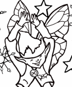 Sparkled Elf Coloring Page