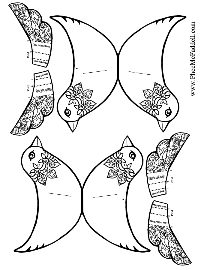 bird wing coloring pages - photo#3
