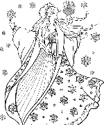 Winter Sprite Coloring Page