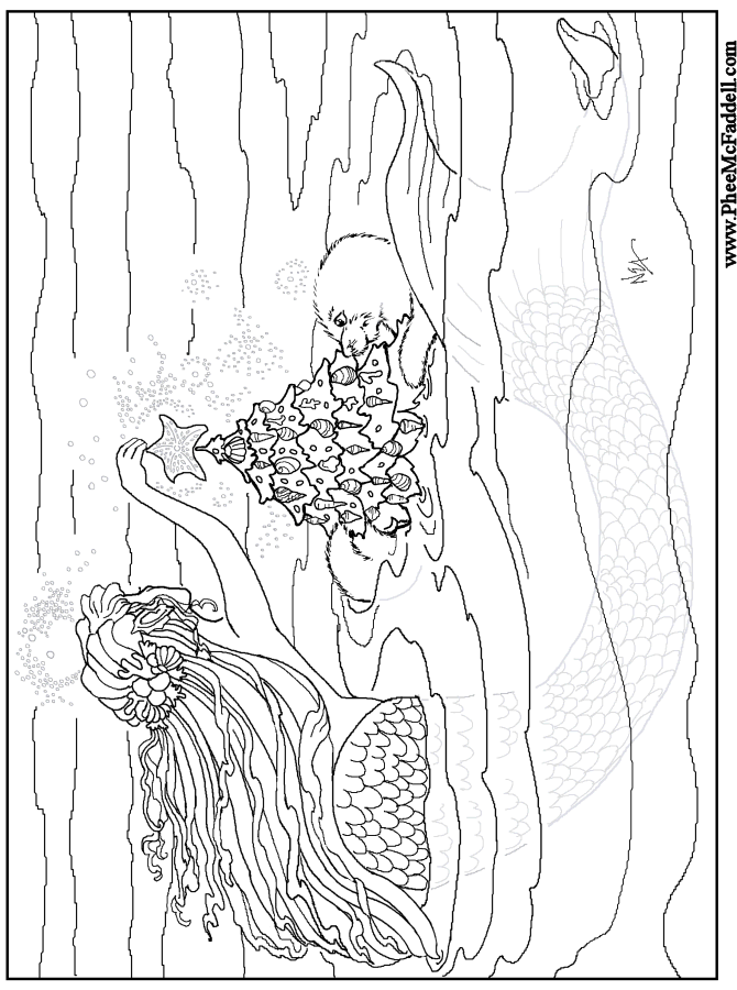 mermaid coloring printable coloring pages - photo#25