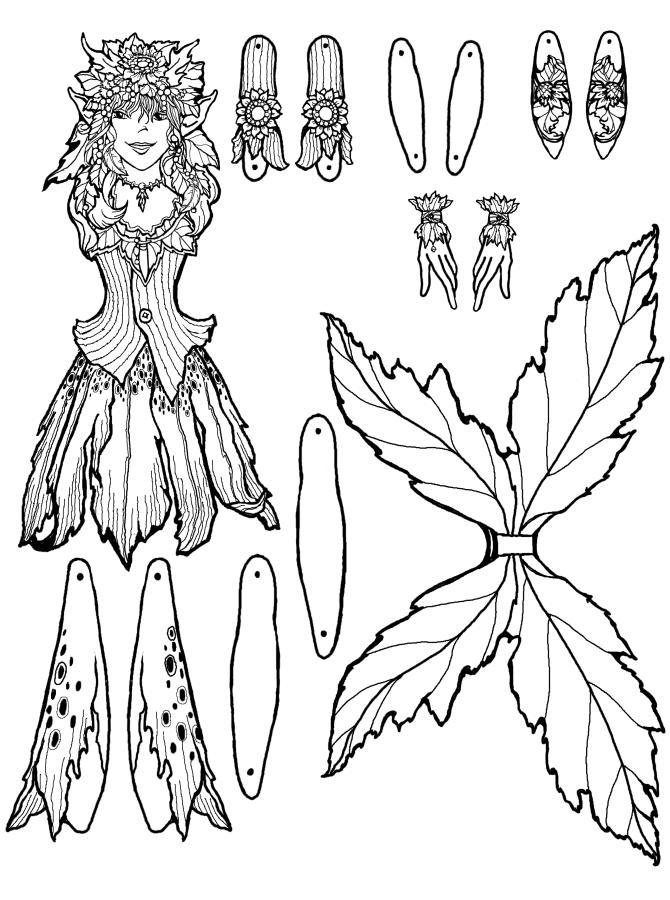 fairy cut out template - perrin fairy puppet