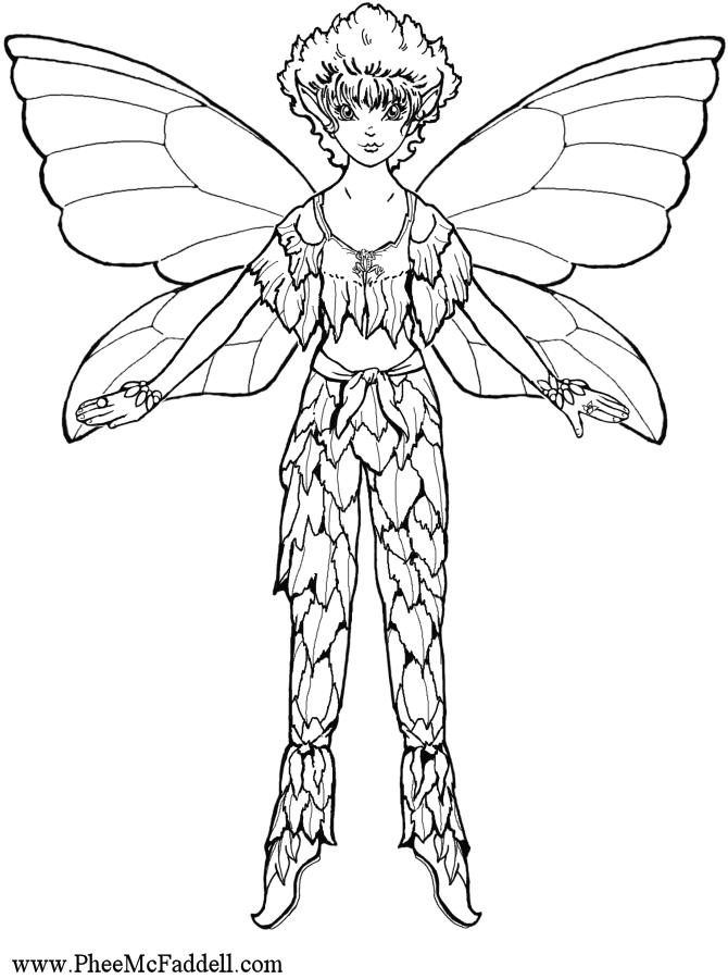 Flicker Fairy coloring Page wwwpheemcfaddell