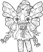 Lilah Fairy Coloring Page