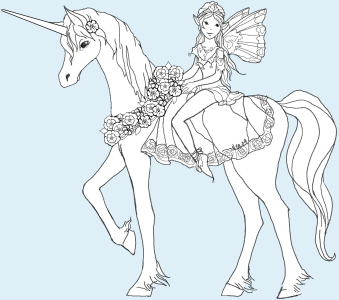 unicorn faerie coloring pages - photo#44