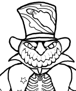 Pumpkin Head Coloring Page