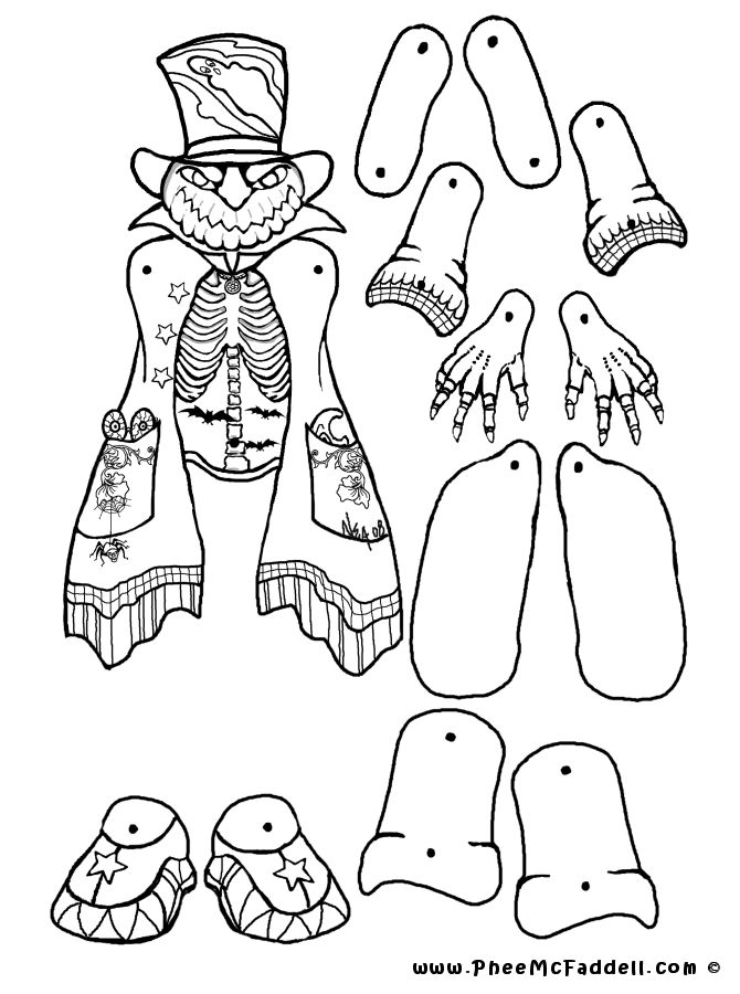 puppets coloring pages - photo#22