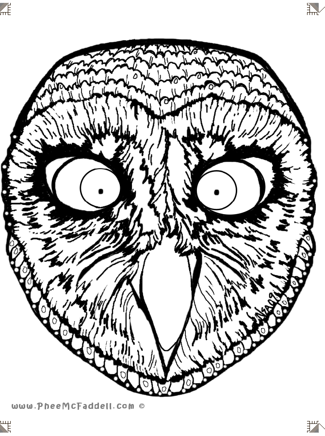 Free day of the dead mask coloring pages