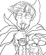 Professor Shoppenhauser Coloring Page