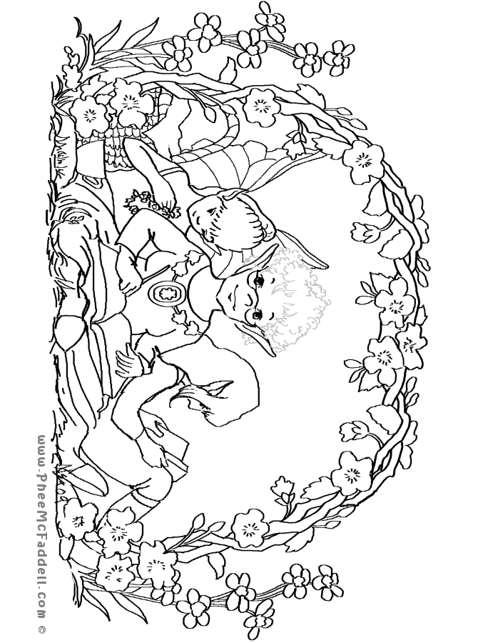 Phee\'s April Journal Coloring Page