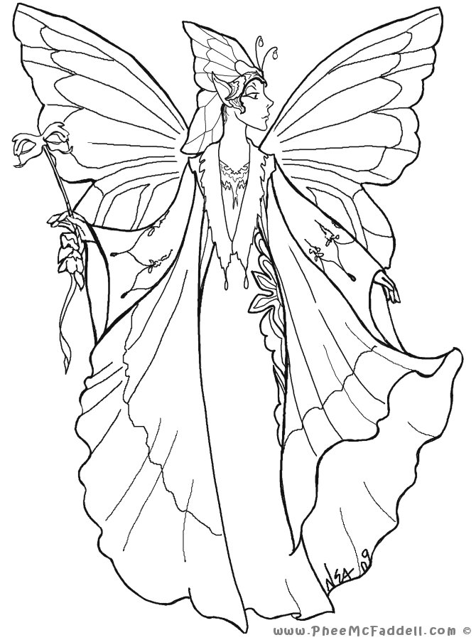 court fairy 1 coloring page. Black Bedroom Furniture Sets. Home Design Ideas