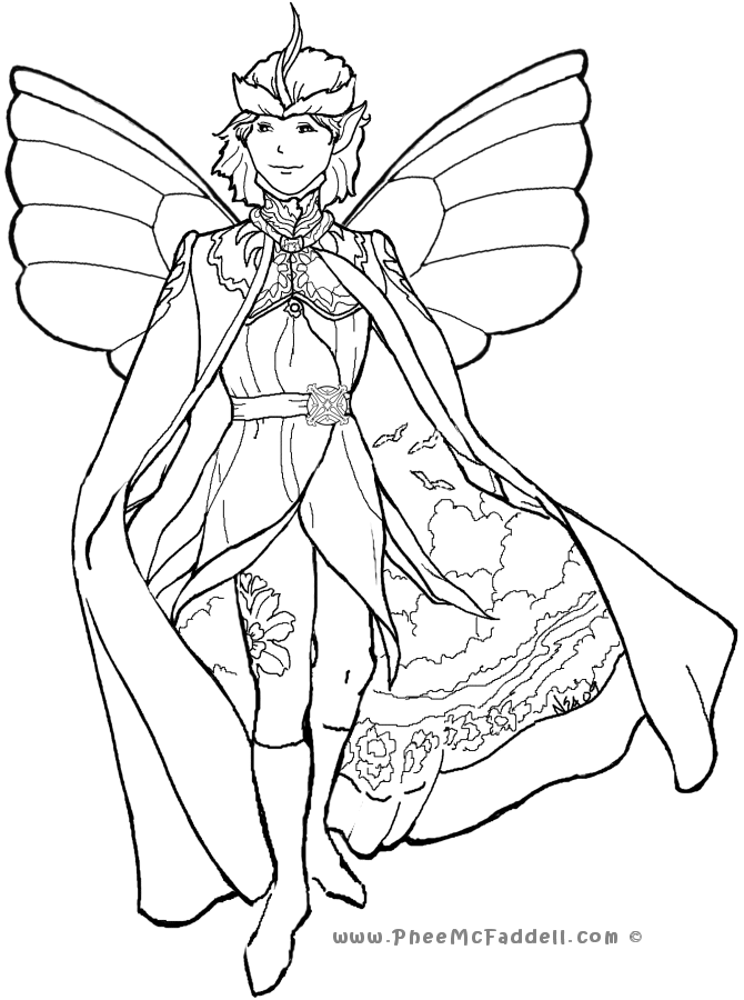 Court Fairy 4 Coloring Page