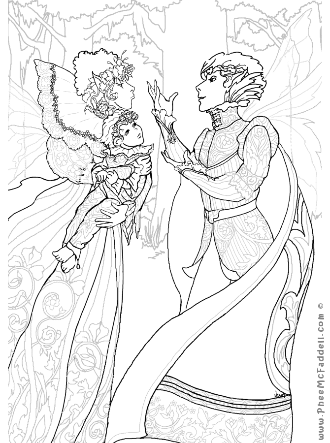 midummer nights dream coloring pages - photo#24