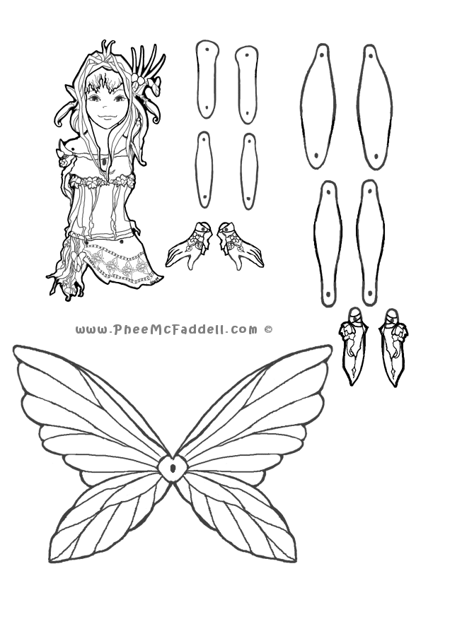 Peaseblossom Puppet Coloring Page